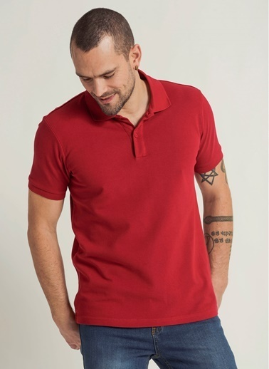 People By Fabrika Tişört Kırmızı